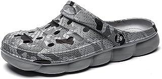 FDSVCSXV Mens Clogs Non Slip Water Shoes, Lightweight Slip on Mules Garden Kitchen Outdoor Beach Yard Pool Shower Summer S...