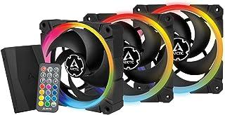 ARCTIC BioniX P120 A-RGB (Bundle 3 pz, incl. A-RGB Controller) - 120 mm Ventola da Gioco a Pressione Statica con A-RGB, PW...