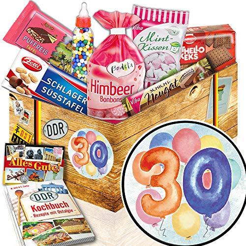 30. Geburtstag / 30. Geburtstag Geschenke / DDR Set Süßigkeiten