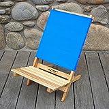 Caravan Folding Beach Chair Fabric: Atlantic Blue