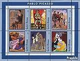 Prophila Collection Guinea-Bissau 1618-1623 Kleinbogen 2001 Picasso-Gemälde (Briefmarken für Sammler) Malerei