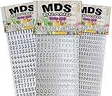 MDS Brand Buchstaben & Zahlen (1cm) zum beschriften von Kerzen 3er/pk für Hochzeitskerze, Taufkerzen, Kommunionkerzen oder dankeskarten, einfach zum basteln und gestalten 22(Silber)