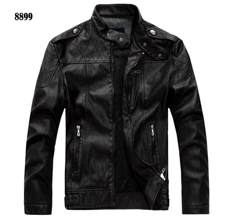 Oudahood Motorcycle Leather Jacket Coat