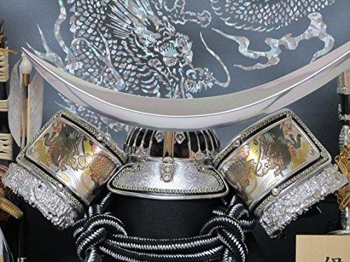 【即日発送可能】10号シルバー伊達兜ケース飾りYN31312GKC五月人形ケース(木製弓太刀)五月人形銀兜飾り鎧飾りケース入り伊達政宗