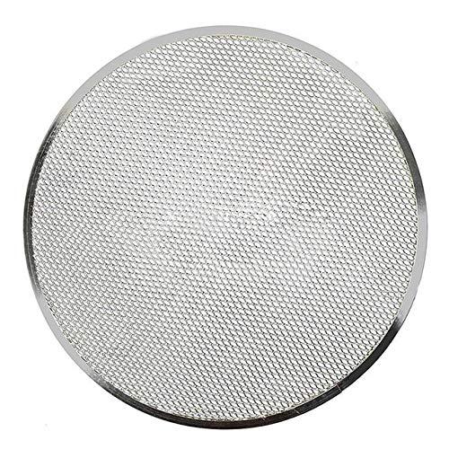 Plato Pizza El engrosamiento de aleación de aluminio de malla plana pantalla pizza del horno Bandeja de horno for hornear neto de utensilios de cocina Bandeja Para Pizza (Size : 14 Inch)