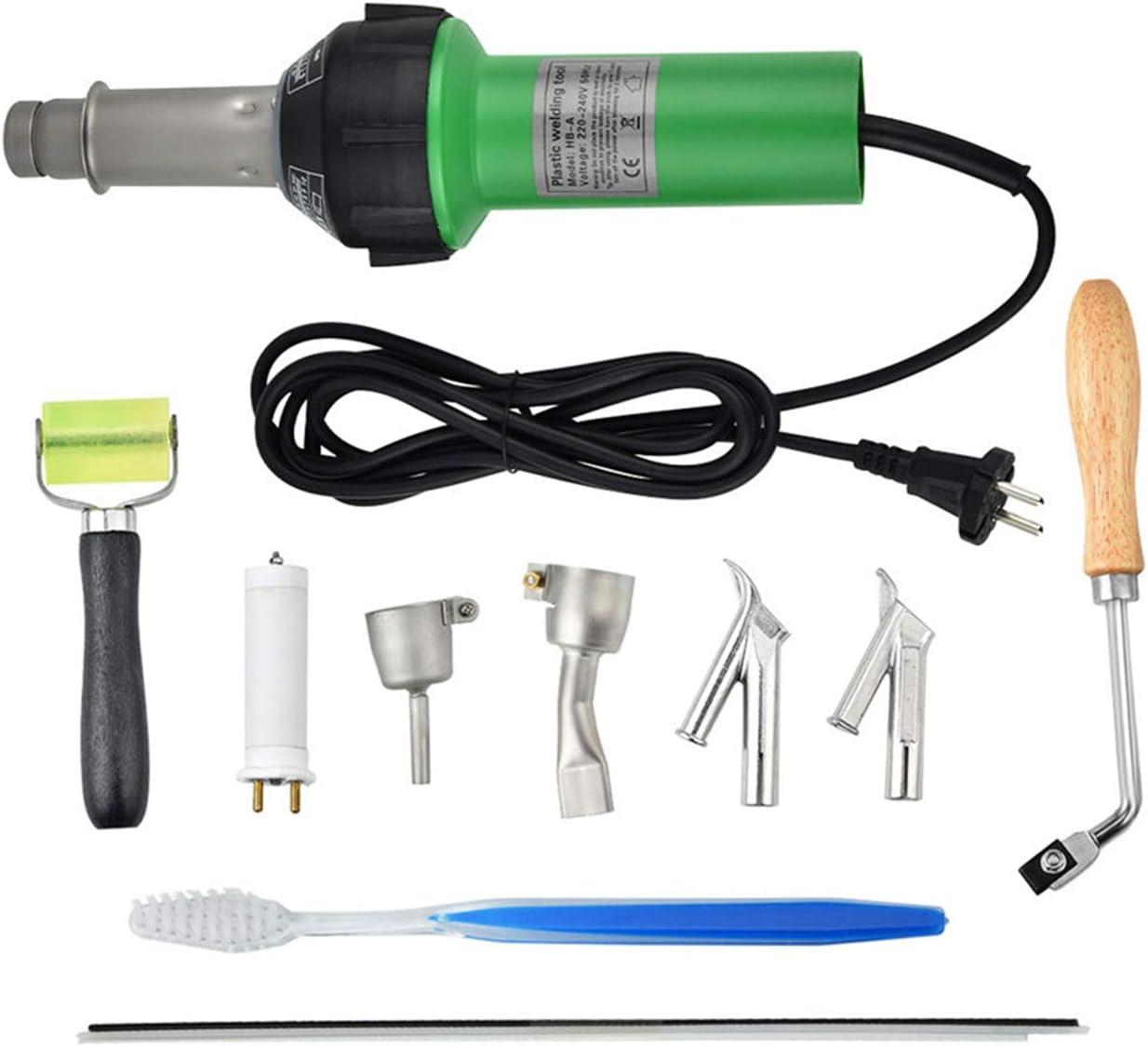 TTLIFE 1600W Soldadora de plástico de mano,Ajustable 40 ° C - 600 ° C Soldador de Plastico Antorcha de Aire Caliente Pistola de Plástico Pistola de Soldadura con Speed Boquillas