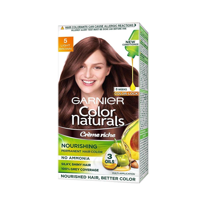 全く偏見どんなときも(Garnier Color Naturals Hair Color, Shade 5, Light Brown)