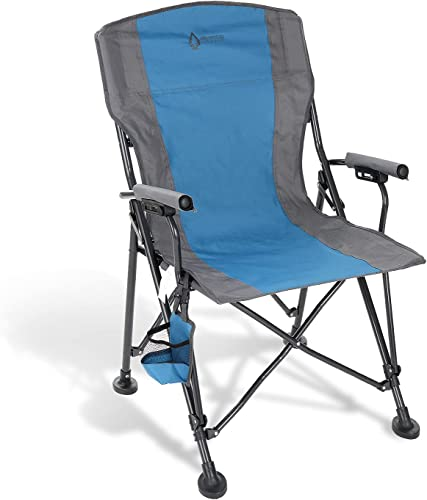 new arrival ARROWHEAD OUTDOOR Heavy-Duty Solid Hard-Arm High-Back Folding Camping Quad Chair, Heavy-Duty new arrival Carrying Bag, Cup Holder Included w/Side online Pouch, Supports up to 400lbs, USA-Based Support sale