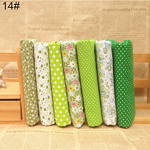 Anniston Art & Craft Sewing Set, 7Pcs/Set Quilting Fabric Floral Cotton Cloth DIY Craft Sewing Handmade Accessory Sewing Supplies for DIY Beginners Adult Kids Teens Girls, 14#