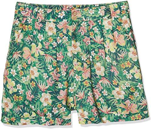 Queen Kerosin Damen Shorts Mit Tropischem Muster Aufschlag Shorts Tailliert Gemustert