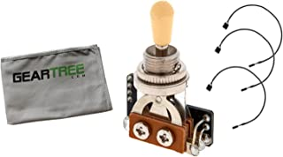EMG 3-way Solderless Toggle Switch with Cables Ivory w/Geartree Cloth