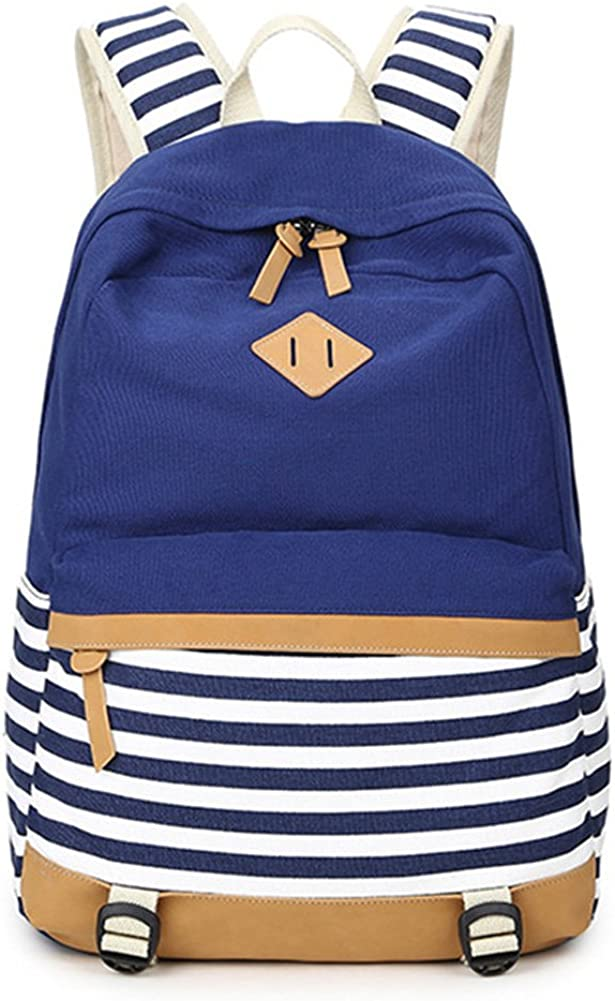 Abshoo Max 54% OFF Lightweight Canvas Manufacturer direct delivery Stripe Backpacks for Womens Girls Scho