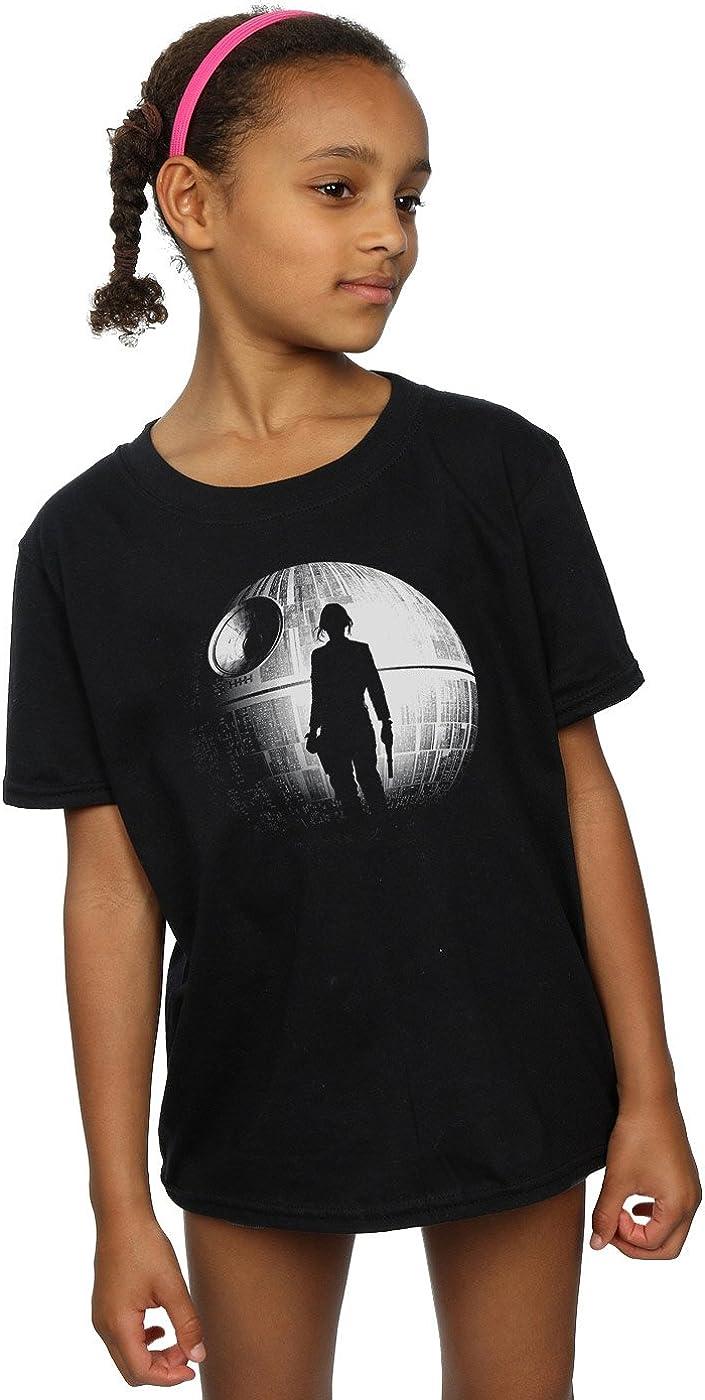STAR WARS Girls Rogue One Death Star Jyn Silhouette T-Shirt 9-11 Years Black