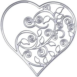Dies Cut Flower Heart Cutting Die for Cards Making Metal Embossing Stencils for DIY Craft Scrapbooking Photo Album Paper Gift (Dies 37 Heart Flower)