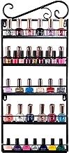 IWIVI Metal Nail Polish Wall Mounted Rack Organizer, 5 Tiers Nail Polish Shelf Display Rack Holds 50 Bottles