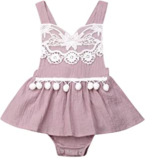 Baby Girl Lace Romper Dress Infant Newborn Summer 1Pcs Suspender Sleeveless Playsuit for 0-24 Months