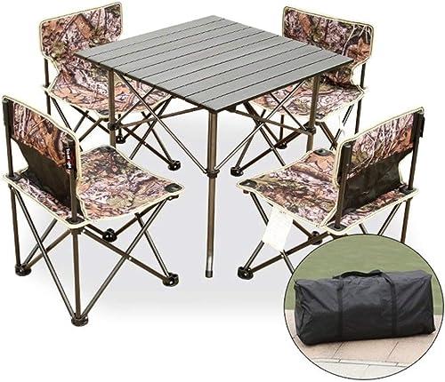 GXLYMX Table de Camping Pliante et Chaise Table et chaises Pliantes extérieures Cinq Table et chaises de Pique-Nique Portable de Costume 5 pièce Table de Pique-Nique Portable et Chaise