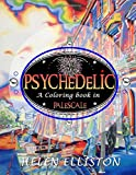 Psychedelic - Palescale adult coloring book: New coloring style! 21 images. Accentuate the colors! (interior art printed in paled color to guide you!)