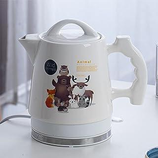Electric Ceramic Cordless White Kettle Teapot,électroménager Bouilloire en céramique, 1.8 litre, blanche avec imprimés, de...