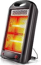 KOKIN Calefactores y radiadores halógenos eléctrico Estufa halógena Calor Halógeno 600W (Control de Temperatura, Funcion Ventilador, Proteccion sobrecalentamiento, Anti-vuelco)