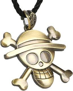 CoolChange Collar de One Piece con Jolly Roger de los Piratas Sombrero de Paja