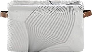 Paniers de rangement Modèle vectoriel abstrait de fleur de pétale linéaire Boîte à étagères pour organisateur de placard a...