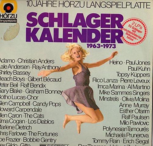 Schlager Kalender 1963-1973