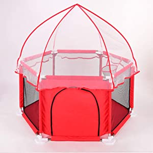 DZWSD Baby Playpen Playpen  Oxford Cloth Indoor  amp  Outdoor Play Space Baby Playpen with mosquito nets Helpful Maintain Clean and Tidy Home for You