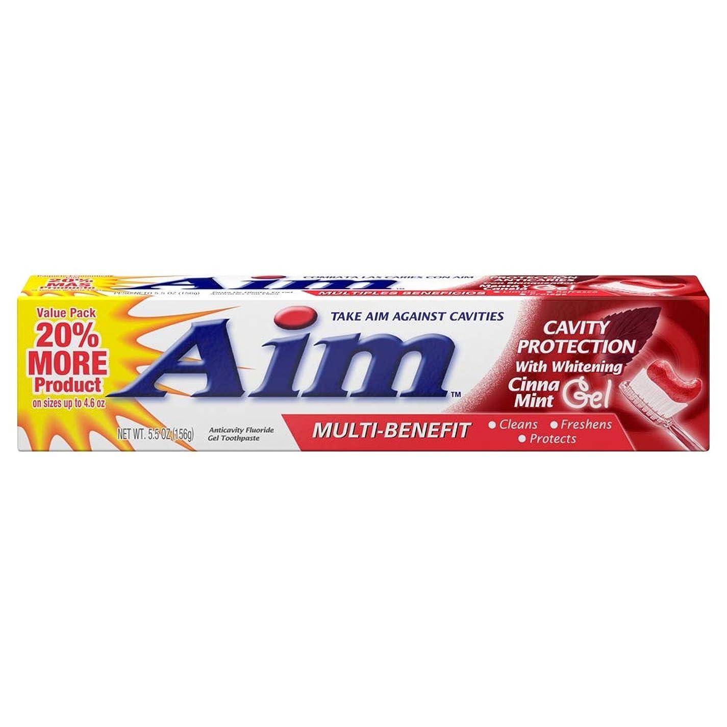 法廷有毒神のAIM キャビティ保護アンチキャビティの歯磨き粉、ミント、5.5オンスを目指します