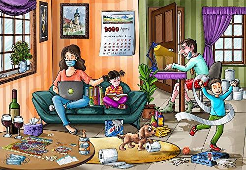 Bdgjln Puzzle 1000 Piezas-Familia Feliz-Rompecabezas para Adultos y Adolescentes, impresión de Alta definición multicolor-50x75cm