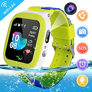 Kids Smartwatch Waterproof Phone - IP67 Waterproof with WiFi/LBS Tracker Smart Watch Touchscreen, SOS Voice Chat Remote Camera, Games Phone for Boys Girls Best Birthday Gift Compatible Android/iOS