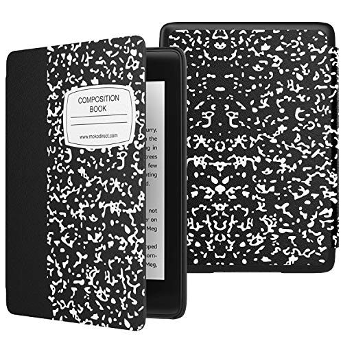 MoKo Case Fits Kindle Paperwhite (10th Generation, 2018 Releases), Thinnest Lightest Smart Shell Cover with Auto Wake Sleep for Amazon Kindle Paperwhite 2018 E-Reader - Notebook Black