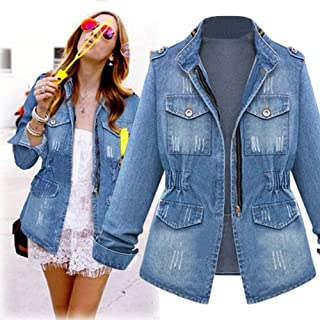 1d62862311deb Hemlock Denim Jacket Women Plus Size Denim Coats Oversize Jeans Coats Jacket  Cardigan Sweater Pullover Tops