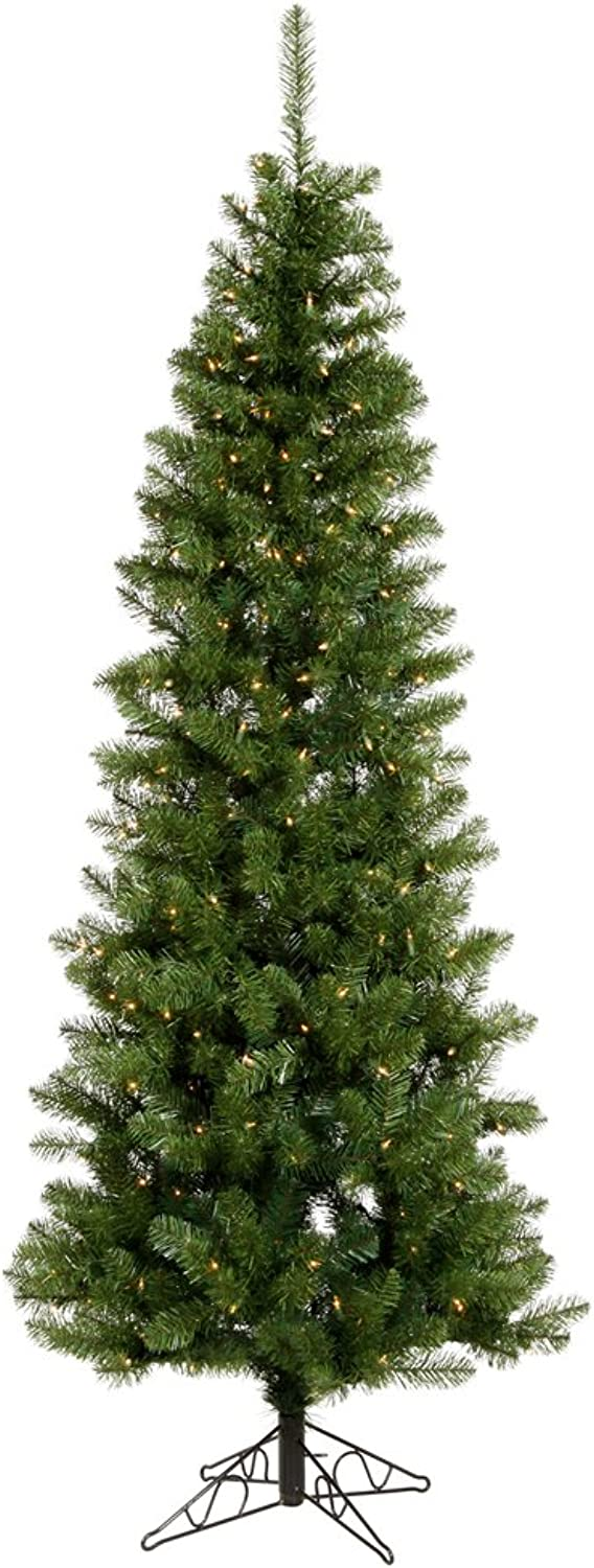 Vickerman 55' Salem Pencil Pine Artificial Christmas Tree with 200 Warm White LED lights