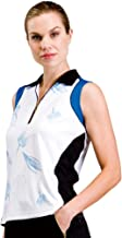 Monterey Club Ladies Dry Swing Floral Print Colorblock Contrast Sleeveless Shirt #2513