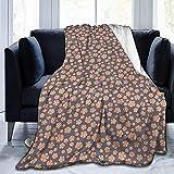 Henry Anthony Weiche Mikrovlies-warme umfassende Gekritzel-Art-blühende Blumen auf Graustufen-Hintergrund-Garten Art Design 50X40 Zoll