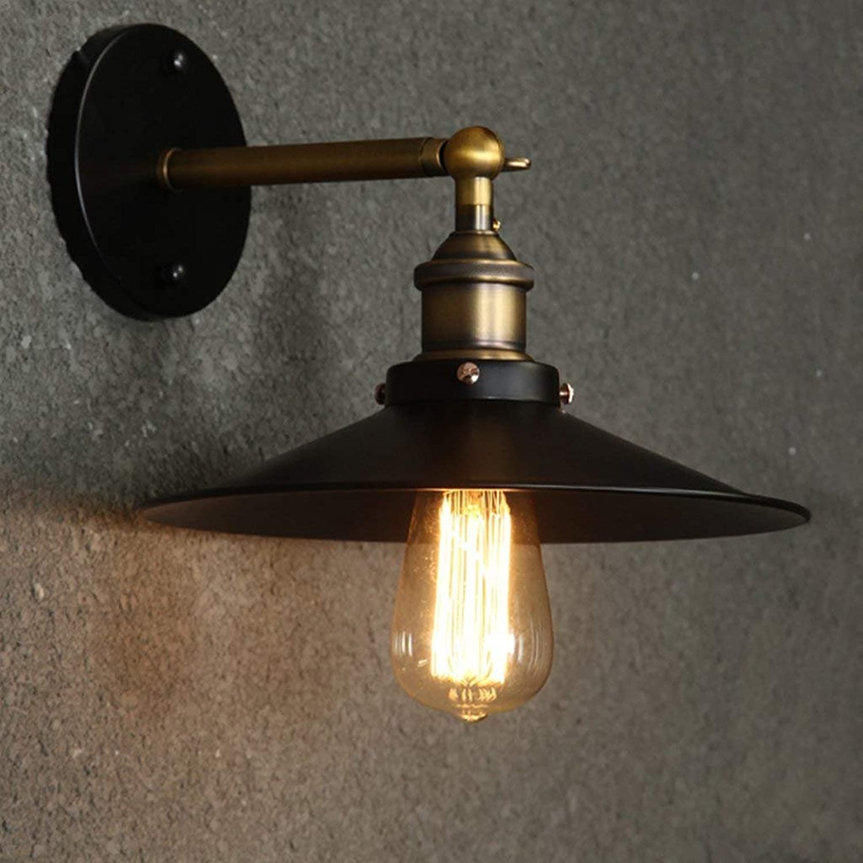 JU Edison-Retro- amerikanische Land-Schmiedeeisen-Wand-Beleuchtungs-minimalistisches Schlafzimmer-Den-Balkon Gang beleuchtet Wand-Sprecher