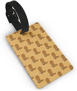 LZwuzhouyiyge Cowboy Boots PVC Luggage Tags Travel ID Labels Tag With Wristband Luggage Tag