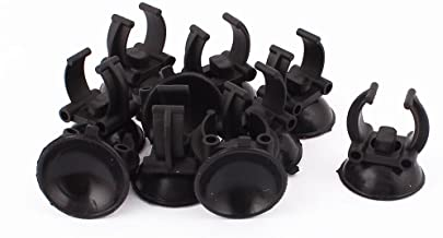 uxcell Aquarium Fish Tank Suction Cup Heater Clips Clamps Holder 33mm Dia 10pcs Black