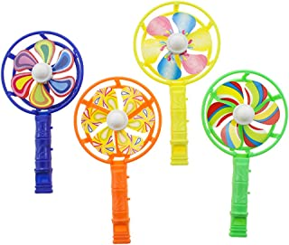 NUOBESTY Whistle Windmill Durable Creative Colored Practical Whistle Toy Birthday Favors for Toddler Kids Children 12pcs (...