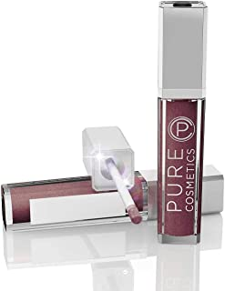 Pure Cosmetics Pure Illumination Natural Hydrating Lip Gloss Push Button Light Up with Mirror - Passion, 0.30 fl. oz. / 9 ml