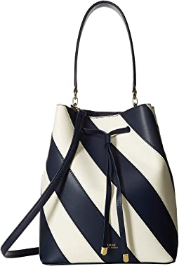 Diagonal Stripe Debby Drawstring Medium