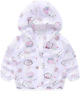 LJYH Boys Girls Cartoon Print Jacket Hooded Sun Protection Jackets
