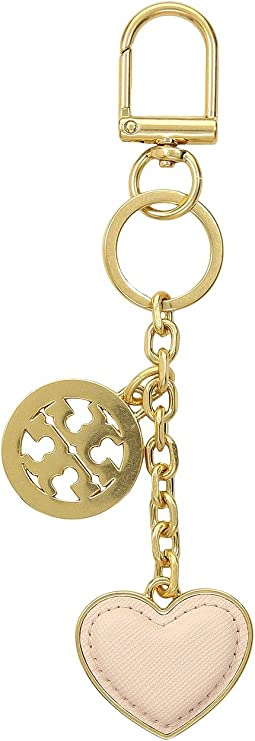 Tory Burch Logo & Heart Key Fob