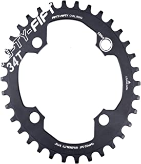 FIFTY-FIFTY 104BCD Oval Narrow Wide Chainring,Single Chainring for 9/10/11-Speed with 4 Alloy Chainring Bolts