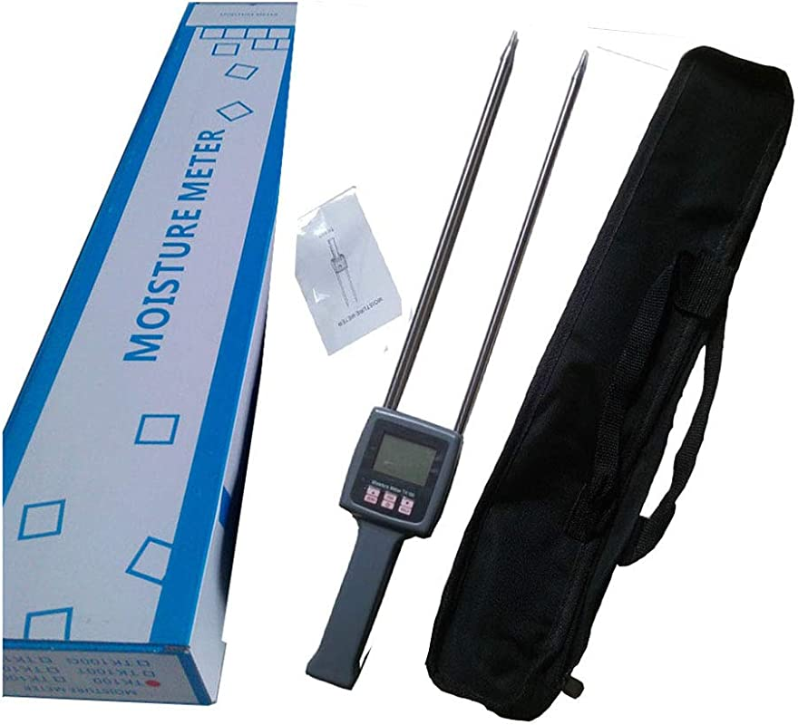 CNYST Hay Moisture Tester Meter Multifunctional Hays Straw Moisture Content Testing With LCD Display TK100 With Measuring Range 0 To 80 Percent