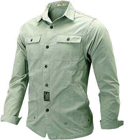 Wodechenshan Camisas Casual para Hombre,La Moda Hombre De ...
