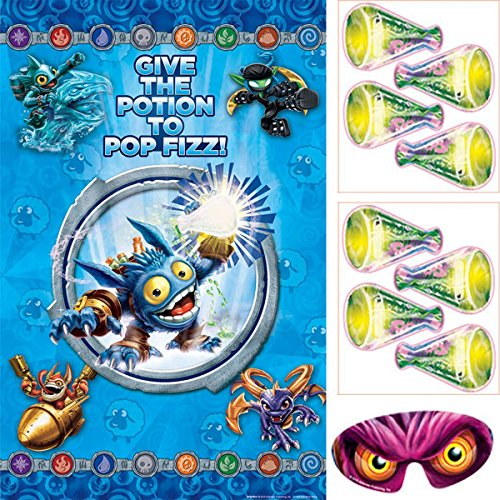 "Amscan Swashbuckling Skylanders Birthday Party Game Activity (4 Pack), 37 1/2"" x 24 1/2"", Blue"