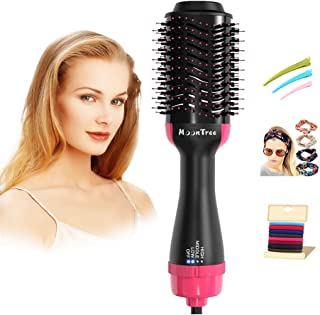 Sponsored Ad - Hair Dryer & Volumizer,Moontree 3 in 1 Hair Dryers with Brush, Blow Dryer Brush for Drying, Straighten & Cu...