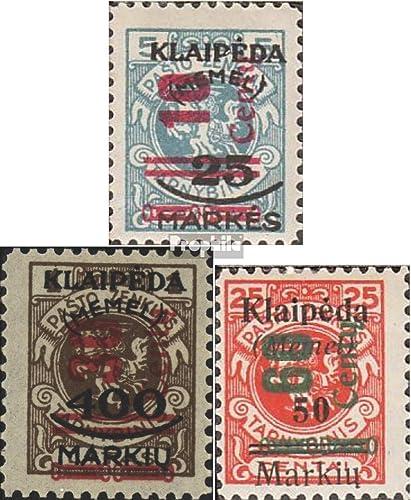Prophila Collection Memelgebiet 230-233 (kompl.Ausg.) 1923 Aushilfsausgabe (Briefmarken für Sammler)